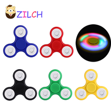 LED Flash Light EDC Hand Spinner Anti Reduce Stress Fidget Toy WIth Switch For ADD ADHD Autism Boring Annoying Lonely Time