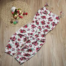 3-7 Years New Trendy Baby Lovely Girls Clothes Toddler Kids Baby Girls Summer Floral Romper Belt Jumpsuit Clothes Outfits Set