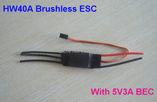 1pice 40A ESC Brushless Motor Speed Controller With 3A / 5V BEC For RC Airplane Aircraft Helicopter