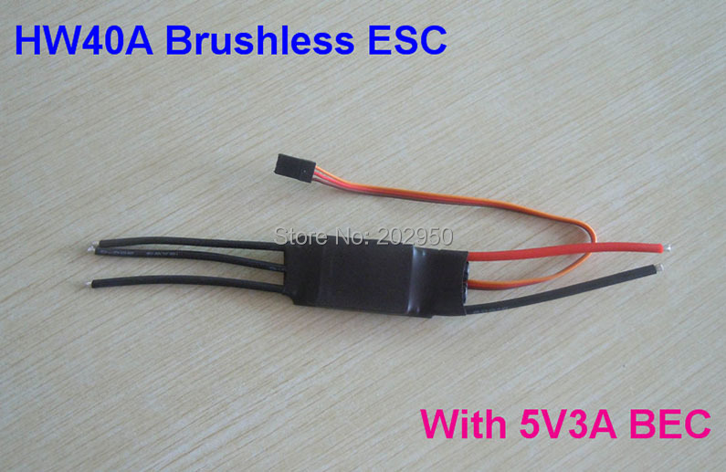 1pice 40A ESC Brushless Motor Speed Controller With 3A / 5V BEC For RC Airplane Aircraft Helicopter(China)