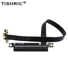 TISHRIC High Rates New Design 1X to 16X PCI-E PCIE PCI Express Riser Card Extender Molex Adapter For Bitcoin Mining Miner(China)