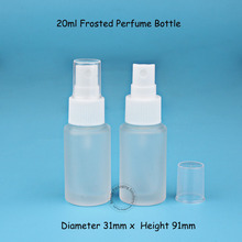 3pcs/Lot High Quality Glass Frosted 20ml Perfume Bottle with Spray Cap Small 2/3OZ Cosmetic Container 20cc Plastic Atomizer Lid
