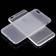 0.3mm Ultra Thin Slim Matte Frosted Transparent Clear Soft PP Cover Case for iPhone 7 6 6S Plus Plastic Scrub phone bags