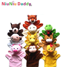 10 styles Hand finger puppet set animals finger puppets Wholesale Plush toy finger(China)