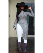 Buy 2017 Winter Women sweaters pullovers asymmetrical sweater dress gray long sleeve women sweater burderry women long sweater for $15.28 in AliExpress store