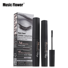 Music Flower Brand Eye Makeup Mascara Volume Glamour Mascara 24 Hours Long Lasting Eyelash Make Up Slender Silk Fibre Waterproof