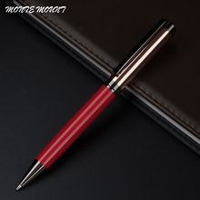 Luxury MONTE MOUNT series pen school supplies luxury Red and rose gold pen stationery ballpoint pen wholesale price(China)
