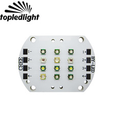 Topledlight Customize 4 Channel 12LEDS 6 Color Fish Tank Aquarium Led Emitter Lamp Light Cree XPE XP-E Epileds Led Bulb Lighting