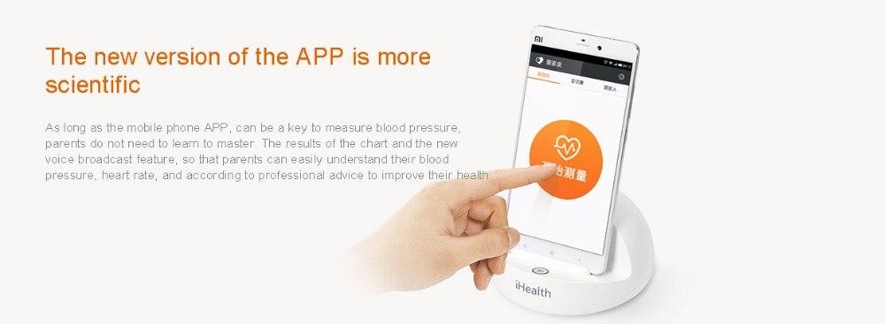 Xiaomi iHealth Smart Blood Pressure Bluetooth version Meters Dock Monitoring System For xiaomi Smart home Miijia Mi home app
