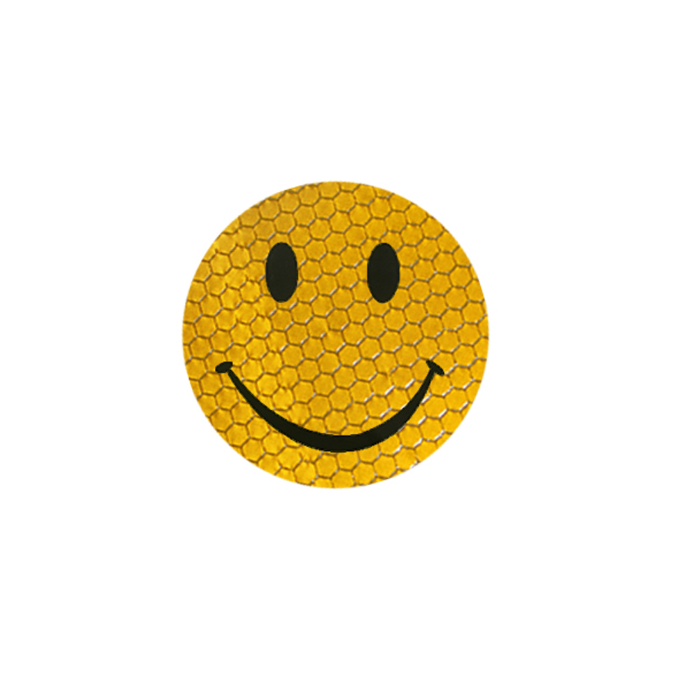 Yellow colors Car Reflective Smiley Stickers for Safety Driving