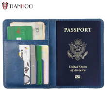 TIANHOO PU Leather Rfid Wallet Passport Cover Holder Case Bag For Russia/US/EUR/CA RFID Safe Blocking Protector For Credit Card(China)