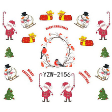 1 Sheet Christmas Design DIY Full Tip Decals Nails Art Water Transfer Printing Stickers Accessories For Manicure Salon(China)