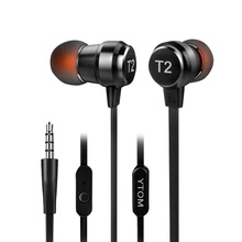 YTOM T2 Metal Earphone Super Bowl Deep Bass Earphone In Ear Monitors HiFi Earbuds With Microphone Transparent Sound Casque Audio