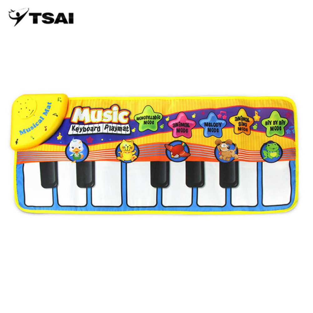 Multifunctional Kids Informative Educational Musical Toys Innovative Musical Kid Piano Play Mat with Lovely Animal Pattern Hot