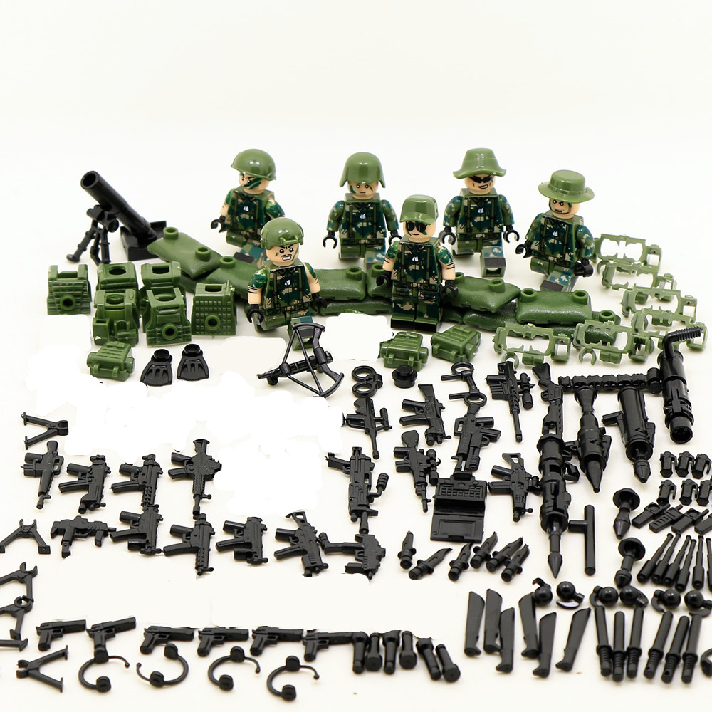 Call of Duty Military Blocks Bricks Tactical Squad Force Soldiers Army Figures