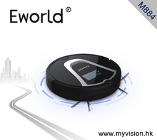 Eworld M884 2016 New Design Dry Wet Robot Vacuum Cleaner For Home Clean Mop Self Charge M884 Black Robot Cleaner Sweeper(China)