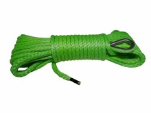 "Green 1/4""*50ft 6mm Synthetic Rope, ATV Winch Line,Kevlar Winch Cable,Warn Winch Rope 6mm(China)"
