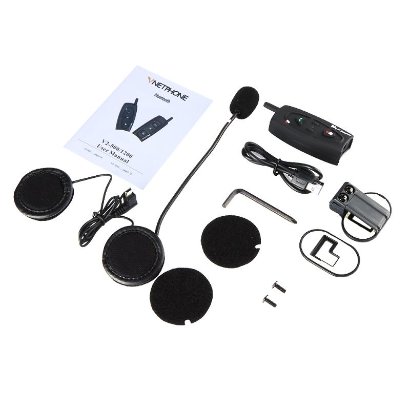 Motorcycle Helmet Mount Bluetooth Intercom Headset Wireless Interfone Headphone Intercomunicador Bluetooth Para Motocicleta
