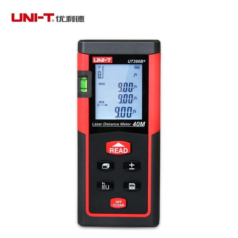 UNI-T UT390B+ Digital Laser Distance Meter Bubble Level Rangefinder Range Finder Tape Measure Area/Volume Laser Tape Measure<br>