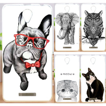 Hot Sale Case Capa Hood For Lenovo A5000 Lenovo A 5000 Cool Animal Cat Dog PC Painted Phone Case Back Cover Skin Shell(China)