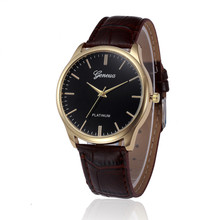 Cheap Geneva Watch Fashion Classic Men Women Watches PU Leather Analog Quartz Wrist Watches relogio masculino Clock
