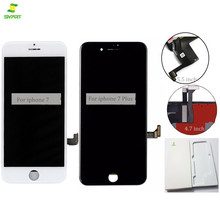 Manufacturer Price Black and White Mobile Phone LCDs 3D For iPhone 7 7 Plus LCD Display With Touch Screen Digitizer Assembly(China)