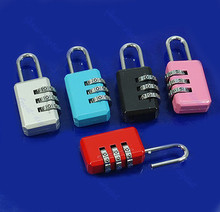 A96 Mini 3 Digit Resettable Combination Luggage Suitcase Lock Padlock Random Color 05B