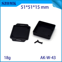 50 pieces a lot White and black color little box small plastic terminal box connection enclosure case 51*51*15 mm 2*2*0.59 inch