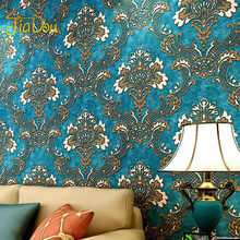 3D Non-woven Wallpaper Damask European Vintage Wallpaper Wall Covering Paper For Backdrop Textured Wall Papers Home Decor