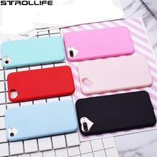 Cute Candy TPU Soft Silicone Phone Cases For iphone 7Plus 5S 6 6S case Loving Heart Full Protect Cover Capa Coque with dust plug