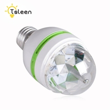 TSLEEN 2016 NEW E27 3W Colorful Auto Rotating lampada 85-260V Bulb Stage Light Party Lamp Disco MIni RGB LED Nightlight(China)