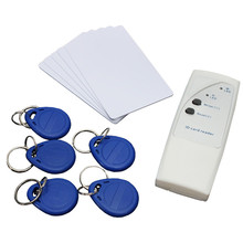 Top Quality New Portable Handheld 125KHz RFID Copier Duplicator + 5 Keyfobs Tags each Writable tags + 5 Writable Cards