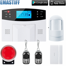 Free shipping Wireless SMS Home GSM Alarm system House intelligent DIY Burglar Security Alarm System(China)