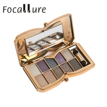 2017 Hot  10 Colors Shimmer Eyeshadow Eye Shadow Palette Makeup Cosmetic Set la gama de colores maquiagem tool Mar26