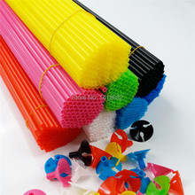 New latex Balloon Stick (100pieces/lot) 32cm mix color  balloons plastic accessories  balloons pvc rods Free shipping