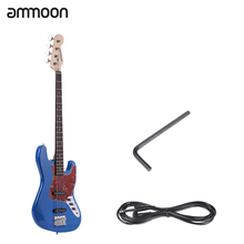 ammoon 4 String JB Electric Bass Guitar Solid Wood Durable Basswood Body Rosewood Fretboard 21 Frets with 6.35mm Cable(China)