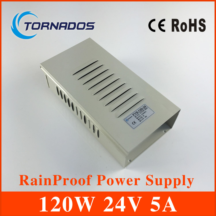 cctv power supply 120W 24V 5A rainproof power supply FY-120-24 ac dc converter outdoor power supply<br>