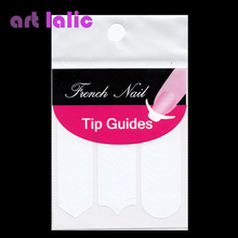 1 Sheet Nails Guides Tips Sticker 3 Style French Manicure Nail Art Decals Form Fringe DIY Styling Beauty Tools(China)