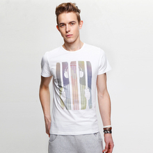 Pre Sale 2014 summer new personalized printed short-sleeved T-shirt 100% cotton breathable comfort music man men boys