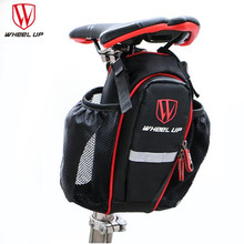 Wheel UpCycling Bags Can Put Two Water Bottle Bicycle Seat post Bag MTB Road Bike Seat RearTail Pouch Bottle Bag Bike Saddle Bag(China)