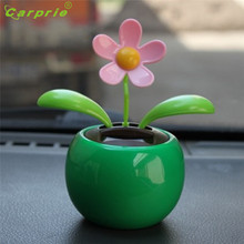 Dropship Hot Selling Solar Powered Dancing Flower Swinging Animated Dancer Toy Car Decoration New Gift Jul 19