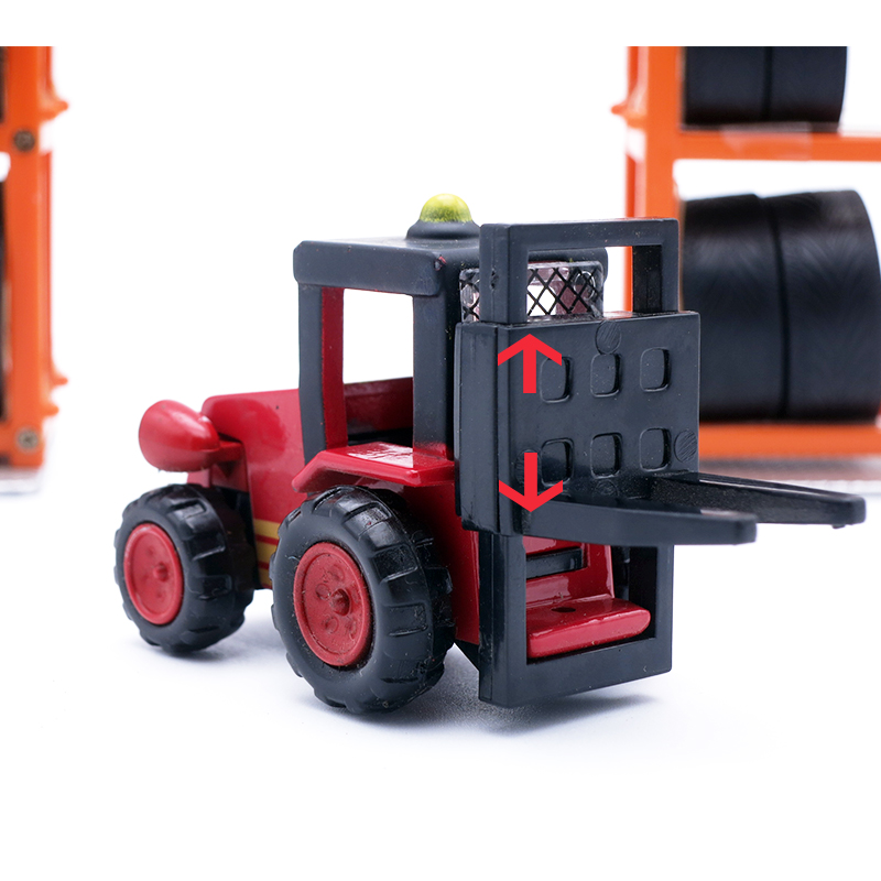 Red bob the builder Diecast Trix Forklift3