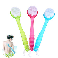 3 Colors Bath Brush Skin Massage Health Care Shower Reach Feet Back Rubbing Brush with Long Handle Massage Clean
