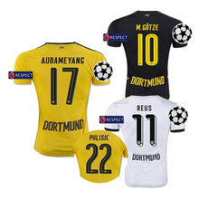 HOTT 2016 Dortmund Champions league short Jersey soccer Home away black 16 17 Jerseys shirt AW