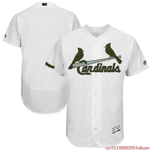 MLB Men's St. Louis Cardinals Baseball White 2017 Memorial Day Authentic Collection Flex Base Team Jersey(China)