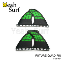 Future fin Qaud Surf Fins Green G5+K2.1 Carbon  Fin Surf Board Quad Fin Future Surfing Quilhas