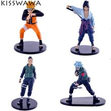 KISSWAWA NARUTO Uzumaki Sasuke Uchiha Madara Figure Set of 4 pcs Wholesale Toys Anime Action Figures