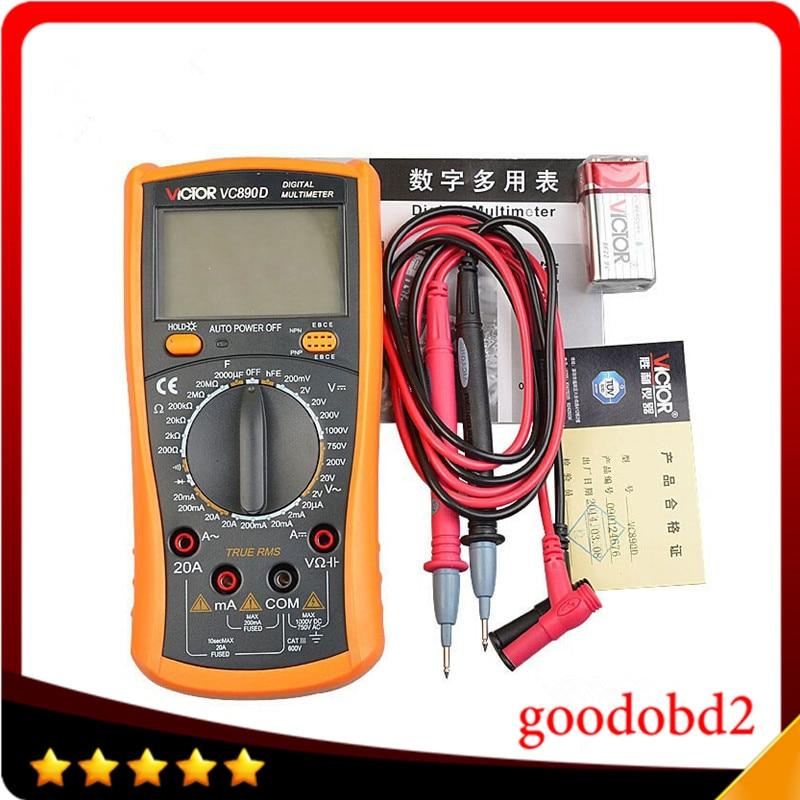 VC890D Digital Multimeter True RMS Multimeter LCD Multimeter Tester 2000UF Capacitor Temperature Measurement<br>