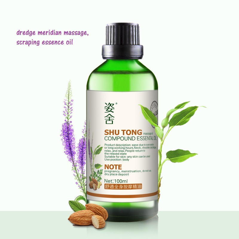 Cosmetics  Whole body dredge meridian massage, scraping essence oil compound products essential oil 100 ml/ bottle <br>