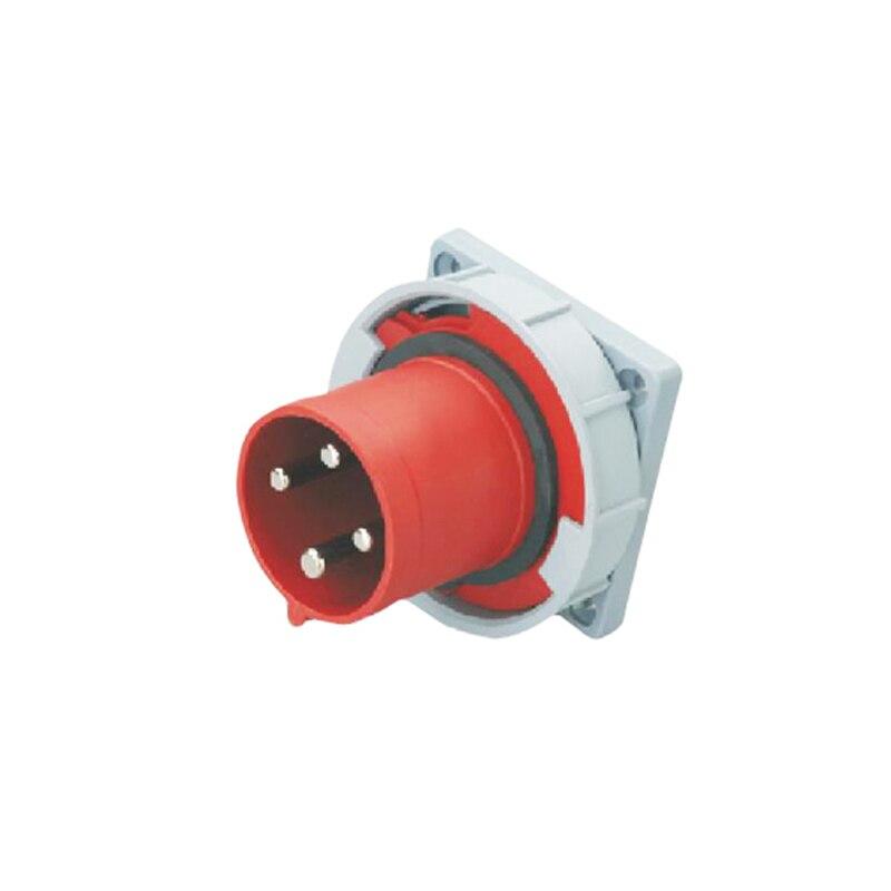 63A 4Pin 380-415V Novel industrial waterproof appliance socket Hidden type plug IP44 SFN-6342<br><br>Aliexpress